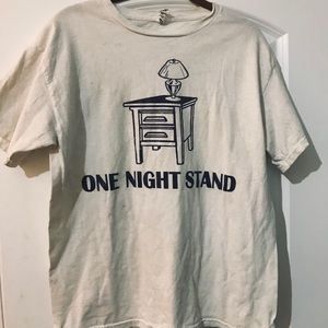 """""""One Night Stand"""" funny graphic tee"""